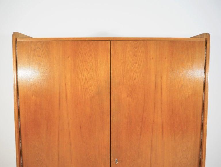 Czech wardrobe for Tatra, 1960s. Original condition. Ashwood wardrobe dimensions: Height 172 cm, width 117 cm, depth 52 cm.