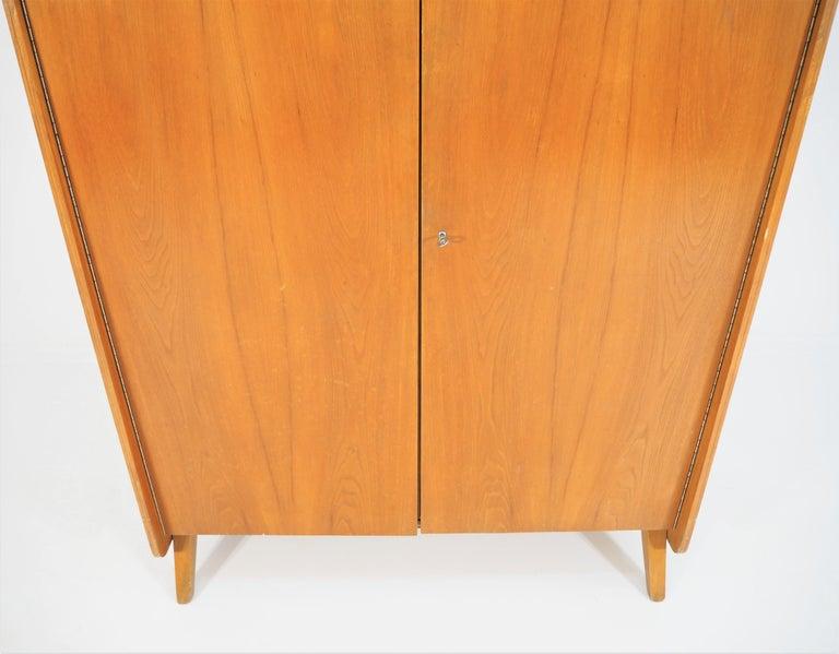 Mid-Century Modern Vintage Ash Wardrobe Tatra, circa 1960s For Sale