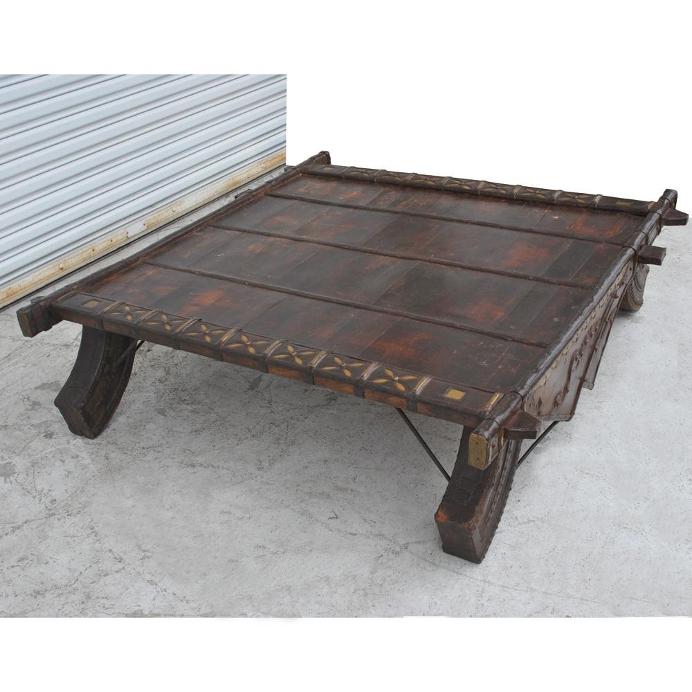 Vintage Asian Bullock Cart Coffee Table