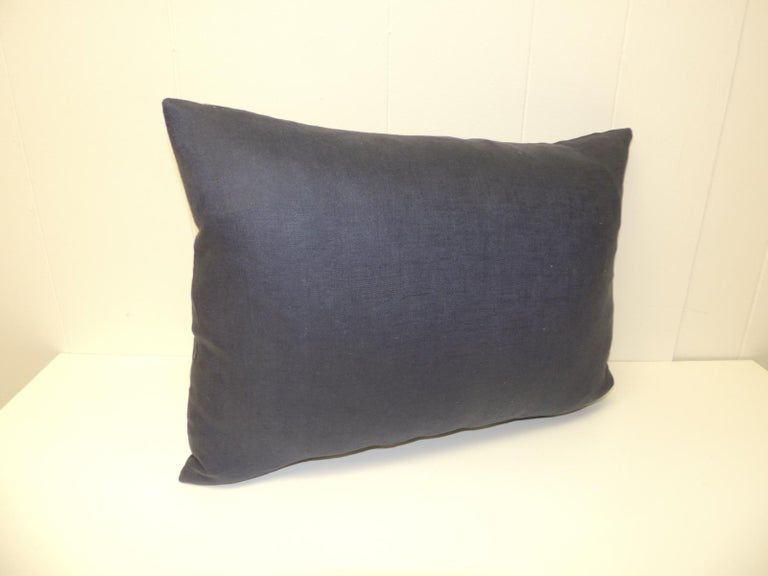 Hand-Crafted Vintage Asian Hand Blocked Batik Decorative Bolster Pillow For Sale