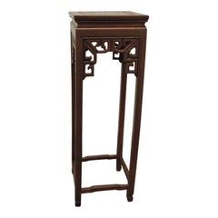 Vintage Asian Square Pedestal or Plant Stand