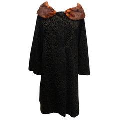 Vintage Astrafurs Paris Coat with Fur Collar