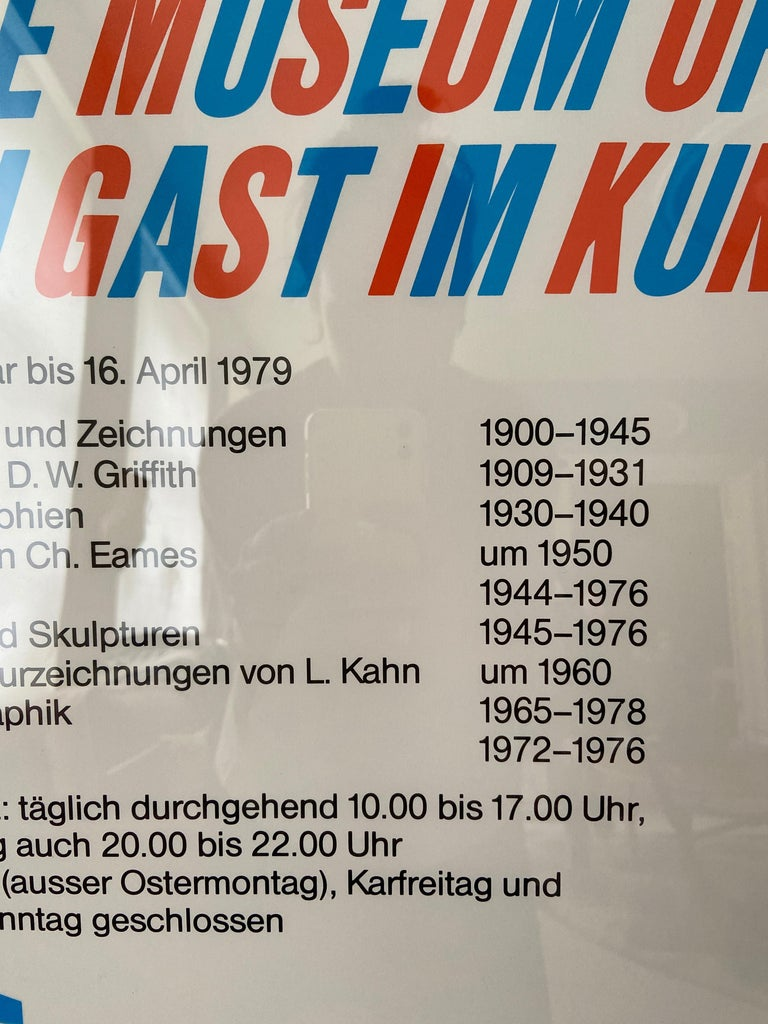Vintage Atelier Jacquet Exhibition Poster from Kunstmuseum Bern, Switzerland1979 For Sale 2