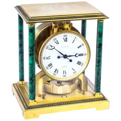 Vintage Atmos Vendome Jaeger le Coultre Mantle Clock Box & Papers 20th Century