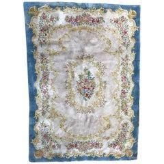 Vintage Aubusson or Savonnerie Style Rug