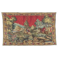 Vintage Aubusson Style French Jaquar Tapestry