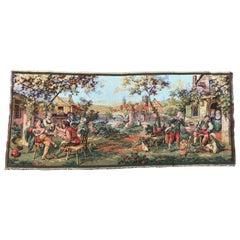 Vintage Aubusson Style Jaquar Tapestry