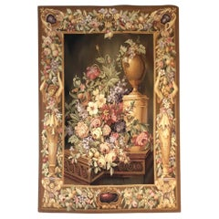 Vintage Aubusson-Style Tapestry