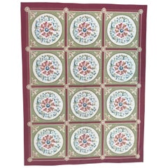 Vintage Aubusson Style Woven Rug