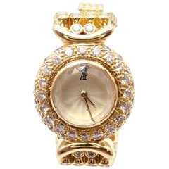 Vintage Audemars Piguet 8 Carat Diamond Yellow Gold Ladies Watch