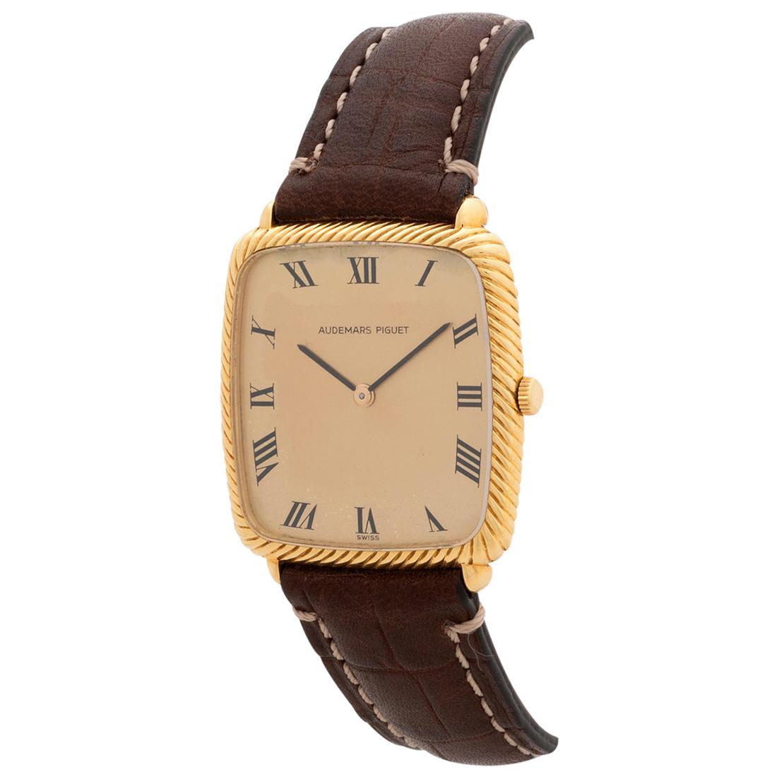 Vintage Audemars Piguet Dress Watch, 18 Karat Yellow Gold Case