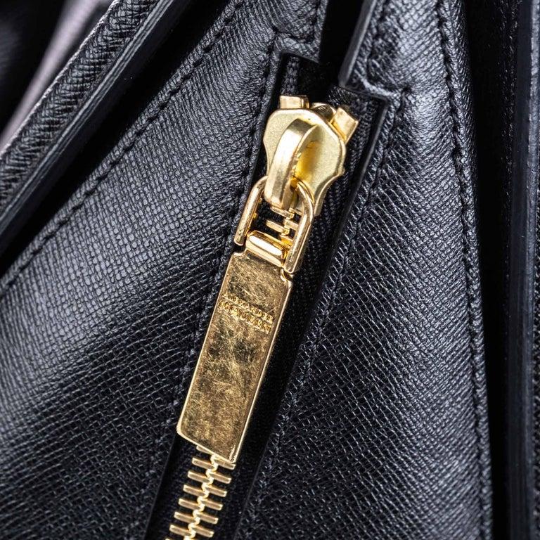 Vintage Authentic Alexander Mcqueen Black Leather Heroine Handbag ITALY MEDIUM  For Sale 10