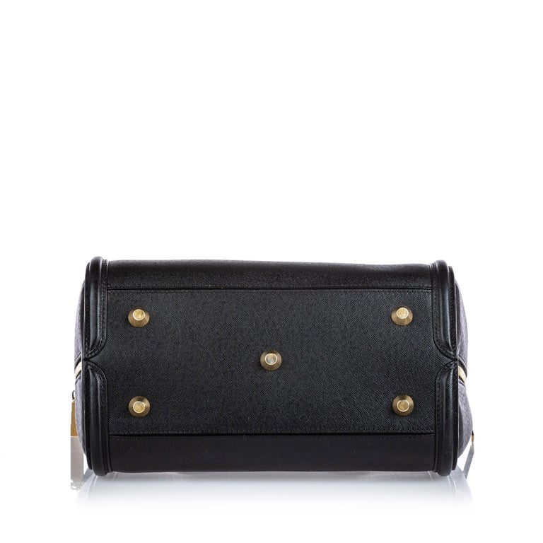 Women's Vintage Authentic Alexander Mcqueen Black Leather Heroine Handbag ITALY MEDIUM  For Sale