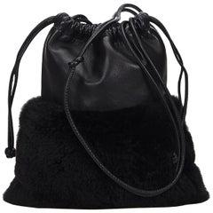 Vintage Authentic Alexander Wang Leather Drawstring Crossbody Bag MEDIUM