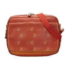 Vintage Authentic Americas Cup Calvi Messenger Bag w Padlock Padlock