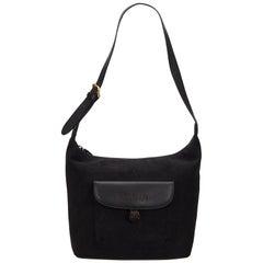 Vintage Authentic Burberry Black Dark Shoulder Bag United Kingdom SMALL