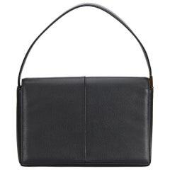 Vintage Authentic Burberry Black Leather Handbag United Kingdom w/ Box SMALL