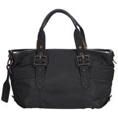 Vintage Authentic Burberry Black Tote Bag United Kingdom w Dust Bag LARGE