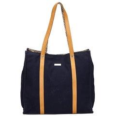 Vintage Authentic Burberry Blue Light Tote Bag United Kingdom LARGE