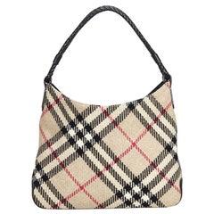 Vintage Authentic Burberry Brown Nova Check Shoulder Bag United Kingdom MEDIUM