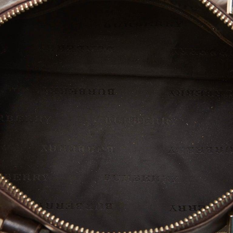 Women's Vintage Authentic Burberry Brown Plaid Boston Bag United Kingdom MEDIUM  For Sale