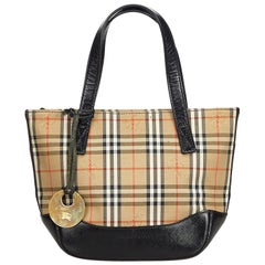 Vintage Authentic Burberry Brown Plaid Handbag United Kingdom SMALL