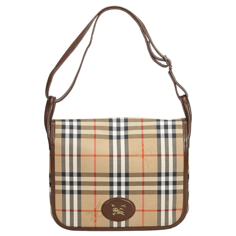 Vintage Authentic Burberry House Check Crossbody Bag United Kingdom MEDIUM