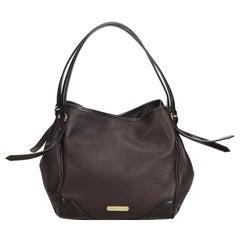Vintage Authentic Burberry Leather Bilmore Shoulder Bag United Kingdom MEDIUM