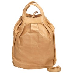 Vintage Authentic Burberry Leather Bucket Bag United Kingdom w Dust Bag MEDIUM