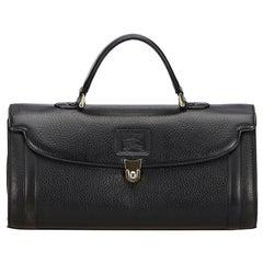 Vintage Authentic Burberry Leather Handbag United Kingdom w Dust Bag MEDIUM