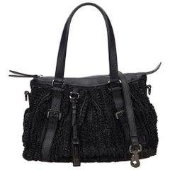 Vintage Authentic Burberry Leather Lowry Ruffled Handbag United Kingdom MEDIUM