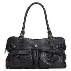 Vintage Authentic Burberry Leather Shoulder Bag United Kingdom w Dust Bag LARGE