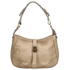 Vintage Authentic Burberry Leather Shoulder Bag w Dust Bag MEDIUM