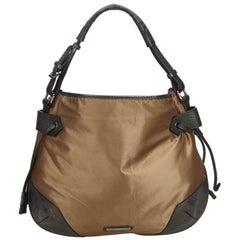 Vintage Authentic Burberry Light Nylon Fabric Handbag United Kingdom LARGE