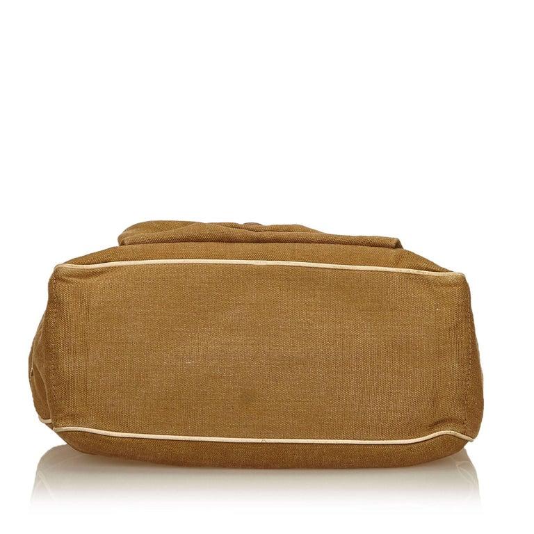 Women's Vintage Authentic Celine Brown Jacquard Fabric Boogie Bag CHINA MEDIUM  For Sale
