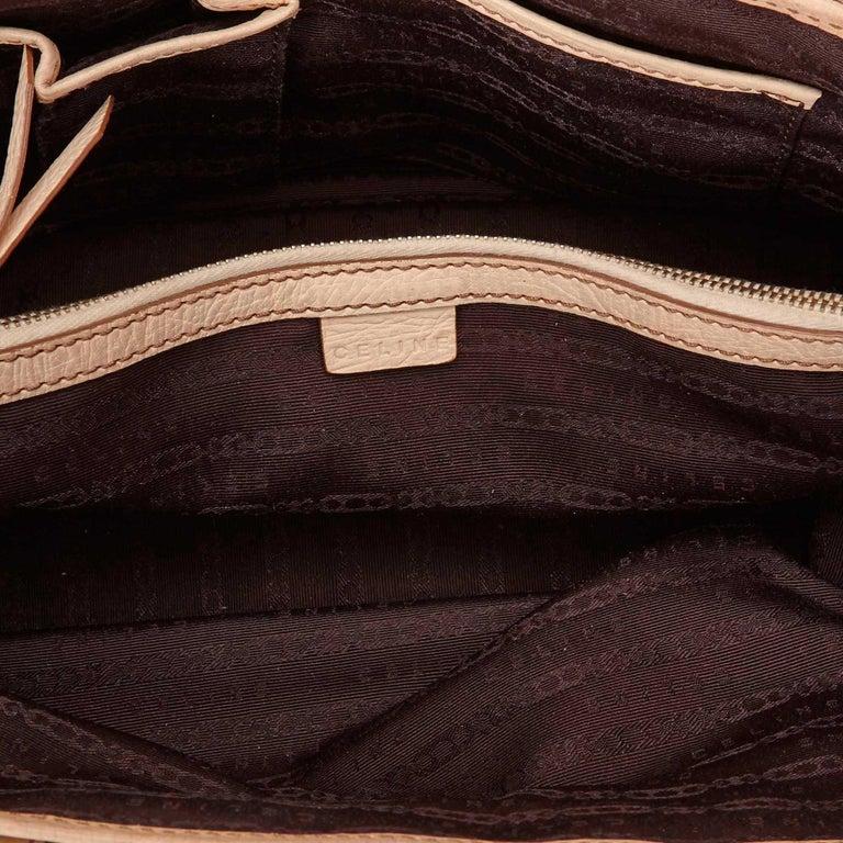 Vintage Authentic Celine Brown Jacquard Fabric Boogie Bag CHINA MEDIUM  For Sale 1