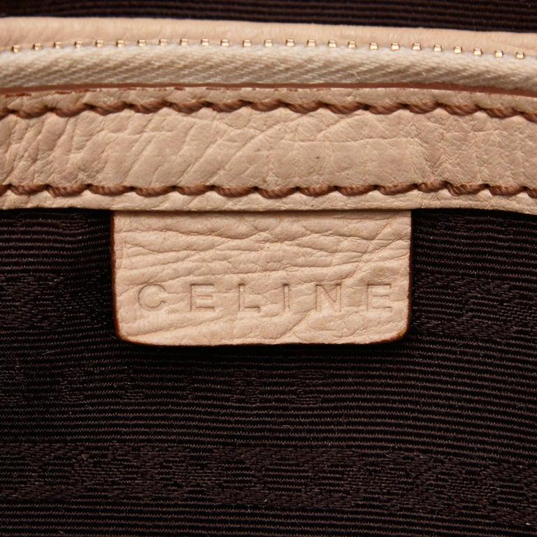 Vintage Authentic Celine Brown Jacquard Fabric Boogie Bag CHINA MEDIUM  For Sale 2