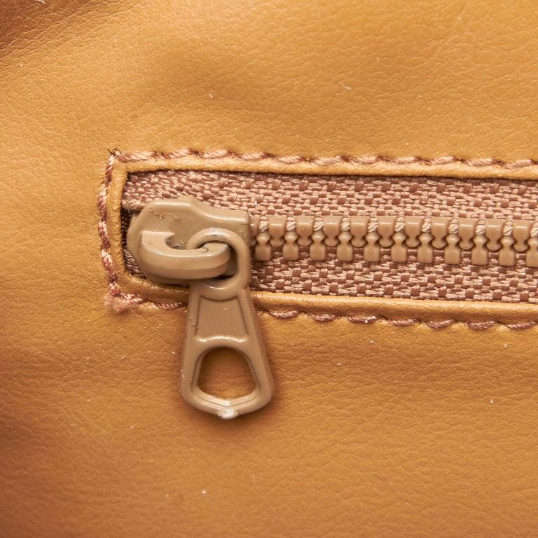 Vintage Authentic Celine Brown Pvc Plastic Macadam Shoulder Bag Italy Medium For Sale At 1stdibs