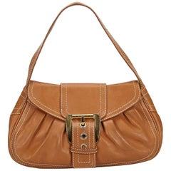 Vintage Authentic Celine Leather Shoulder Bag w Dust Bag Authenticity Card