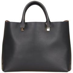 Vintage Authentic Chloe Black Leather Baylee FRANCE w/ Dust Bag LARGE