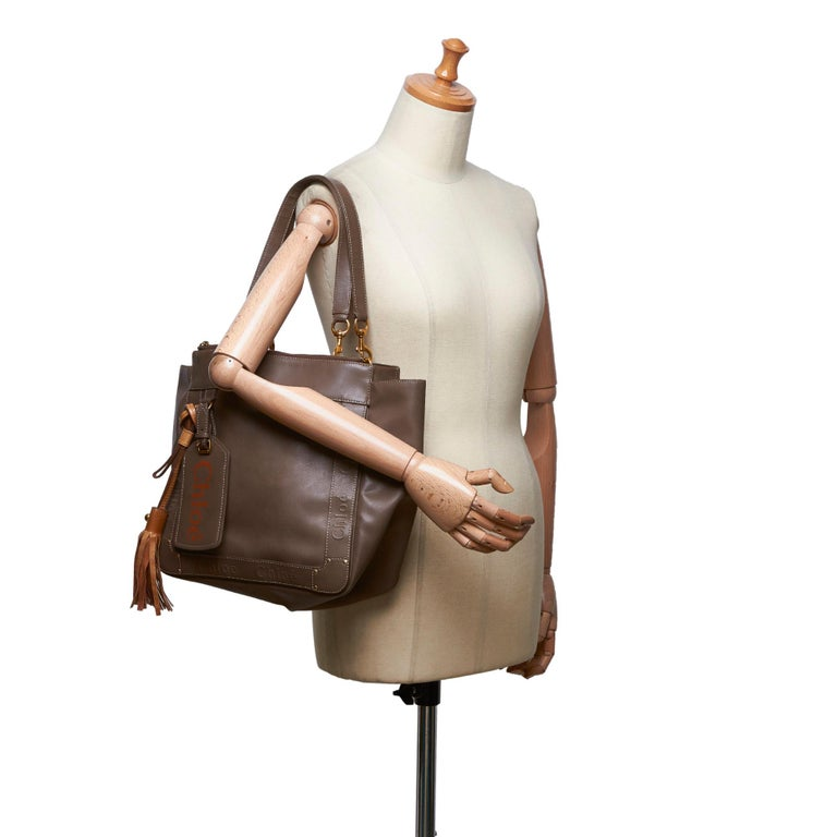 Vintage Authentic Chloe Brown Leather Eden Tote Bag BULGARIA LARGE  For Sale 6