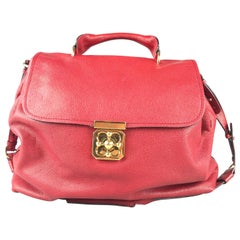 Vintage Authentic Chloe Red Calf Leather Elsie Italy LARGE