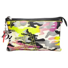 Vintage Authentic Dior Anselm Reyle Camouflage Pouch France w Dust Bag SMALL