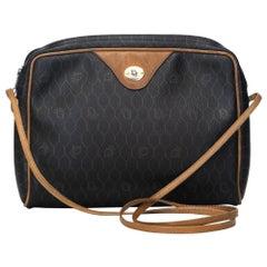 Vintage Authentic Dior Black Honeycomb Crossbody Bag FRANCE MEDIUM