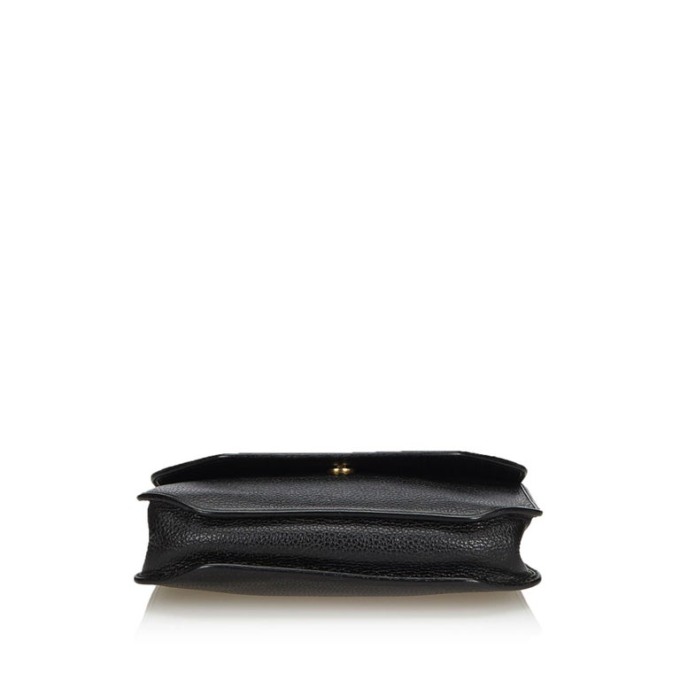 Women's Vintage Authentic Dior Black Leather Handbag France MEDIUM  For Sale