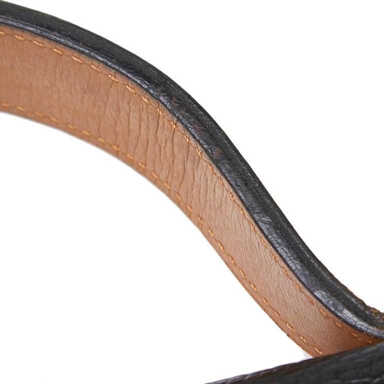 Vintage Authentic Dior Black Leather Handbag France MEDIUM  For Sale 5