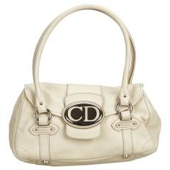 Vintage Authentic Dior Leather Handbag w Dust Bag Authenticity Card MEDIUM