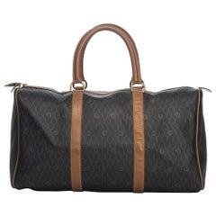 Vintage Authentic Dior Leather Honeycomb Duffle Bag France w Padlock Key LARGE