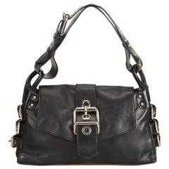 Vintage Authentic Dolce Gabbana Leather Shoulder Bag Italy w Dust Bag MEDIUM