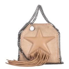 Vintage Authentic Fabric Mini Falabella Star Fringe Crossbody Bag